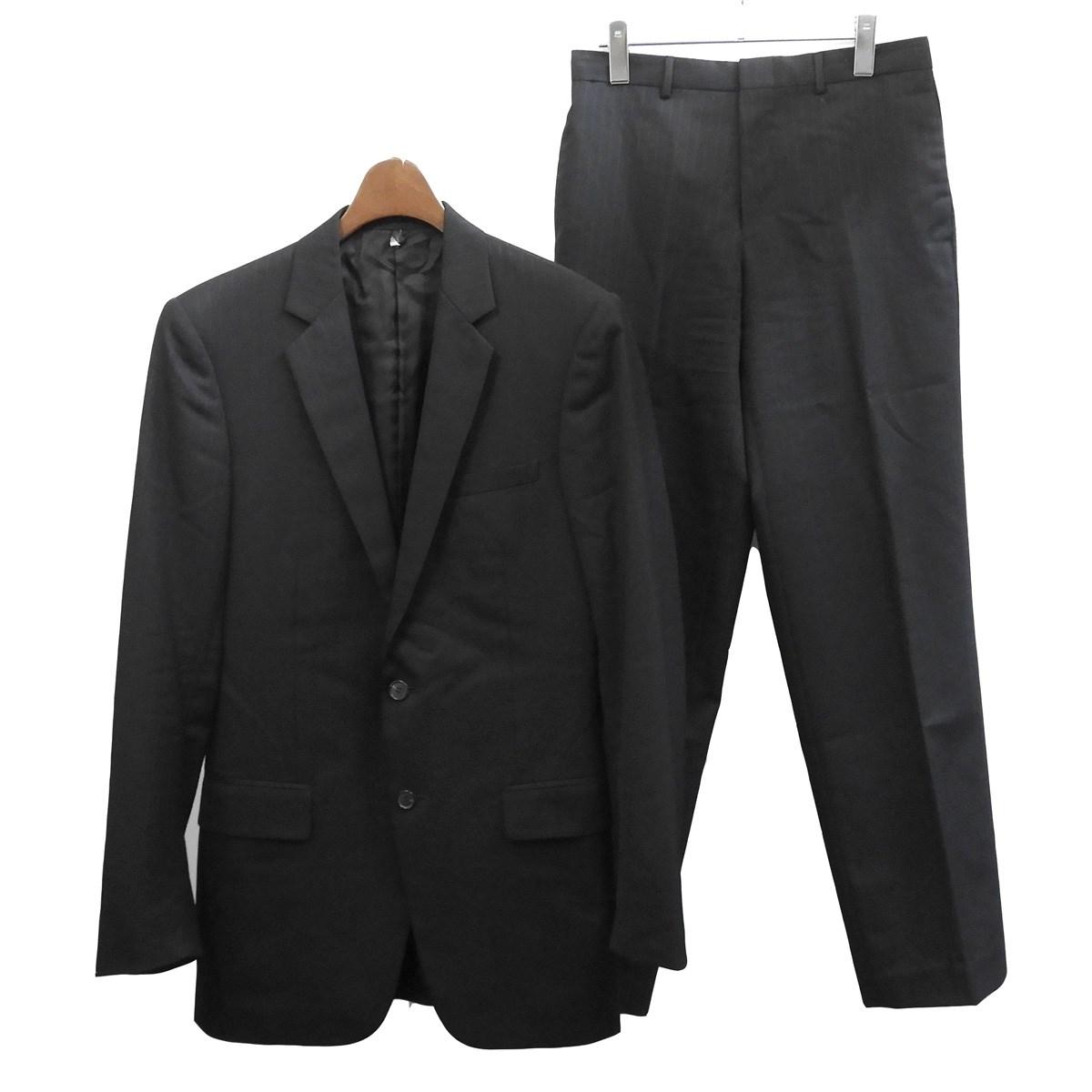 【中古】Dior Homme 2002SS ストライプセットアップスーツ ブラック サイズ:46/46 【201019】(ディオールオム)