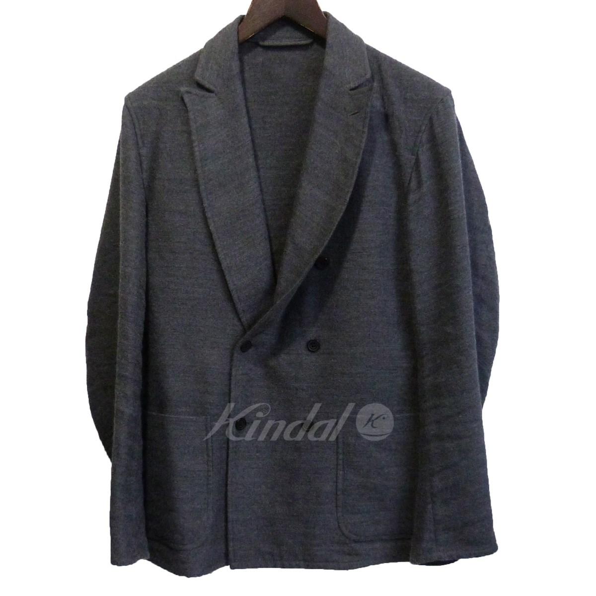 【中古】COMOLI 2015AW ウールリネンダブルブレストジャケット グレー サイズ:2 【201019】(コモリ)