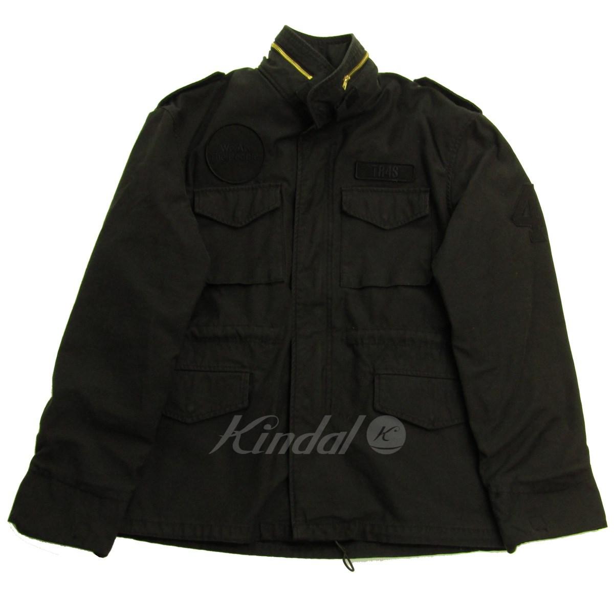 【中古】tr4 suspension M-65 FIELD JACKET フィールドジャケット チャコールグレー サイズ:L 【221019】(ティーアールフォーサスペンション)