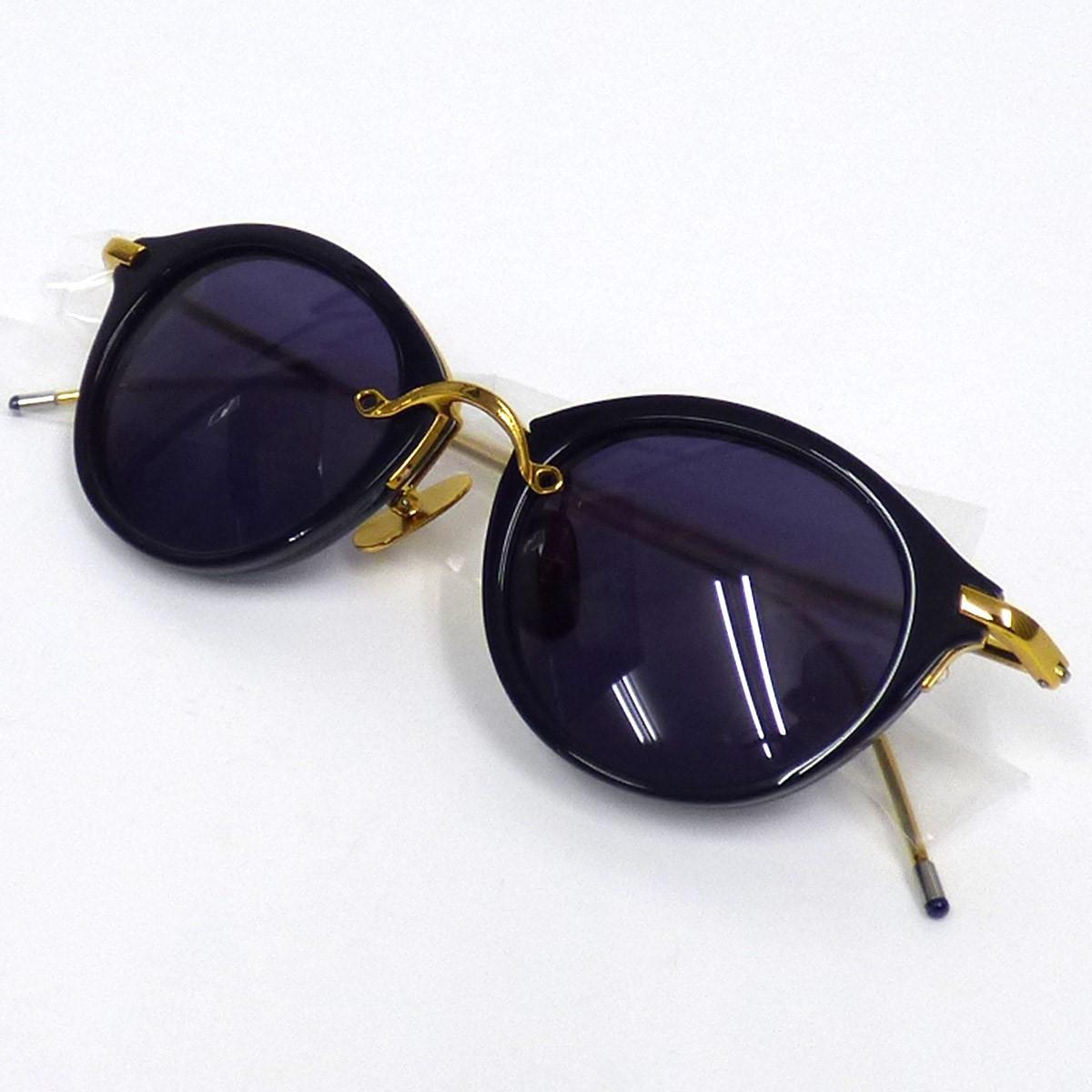 【中古】Tei eyewear Tel4-01Ns Boston Sunglassesボストンフレームサングラスメガネ ネイビー サイズ:46□20 【231019】(テイアイウェア)