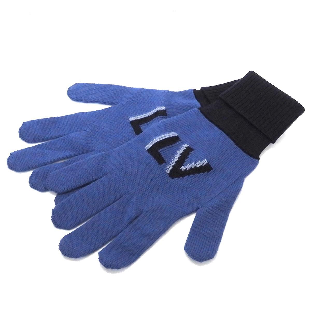 【中古】LOUIS VUITTONニットグローブ 手袋 ブルー