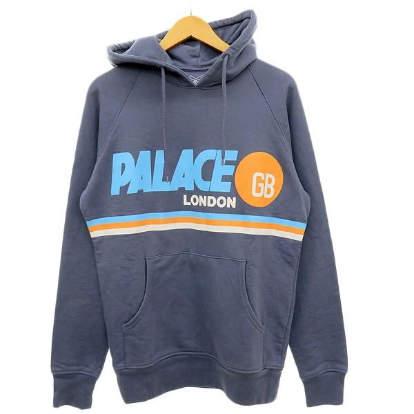 【中古】PALACE 【pally pal hoodie】プルオーバーパーカー ネイビー系 サイズ:M 【251019】(パラス)