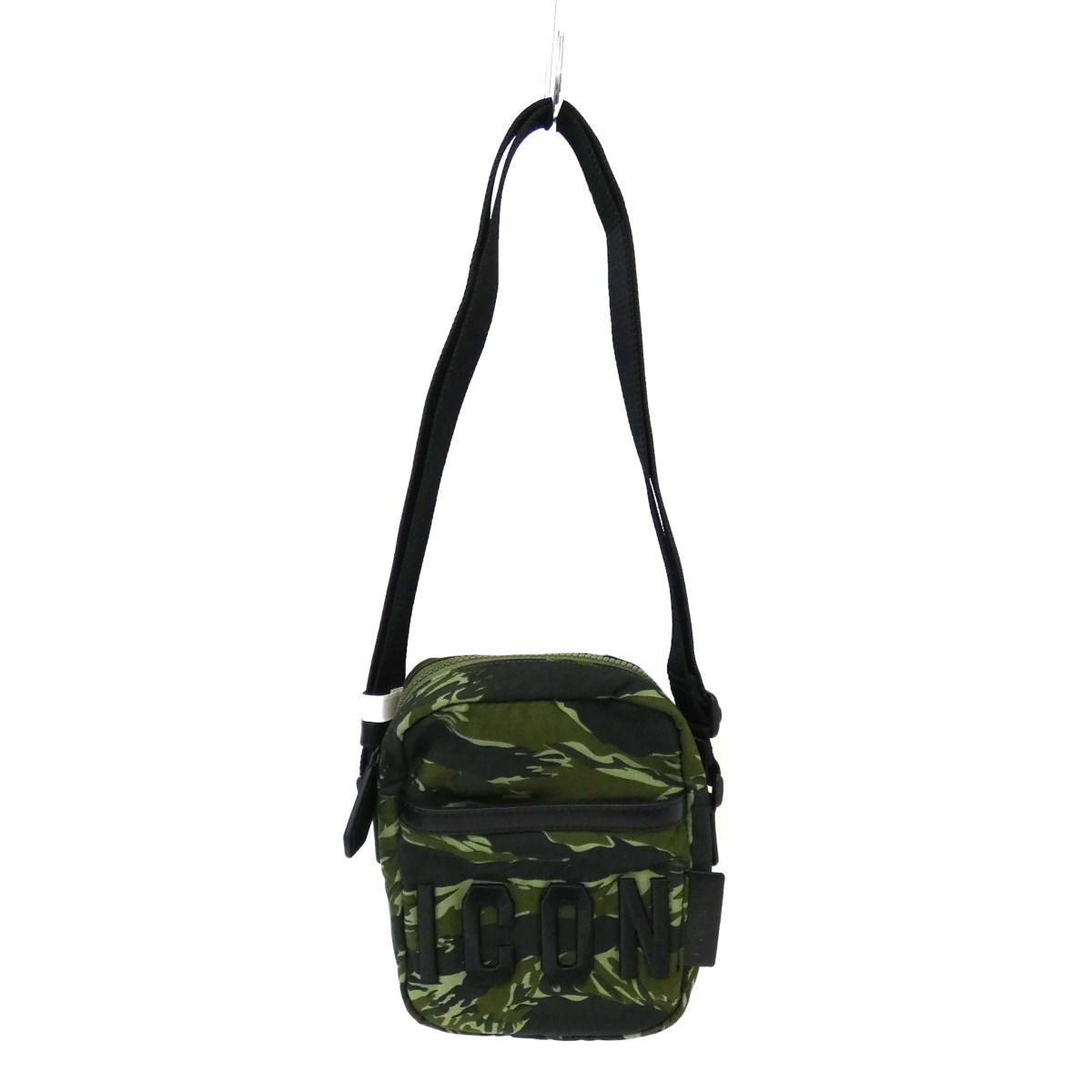 12月12日 お値段見直しました 中古 大決算セール DSQUARED219SS Crossbody Bag カモショルダーバッグ カーキ サイズ:- 商舗