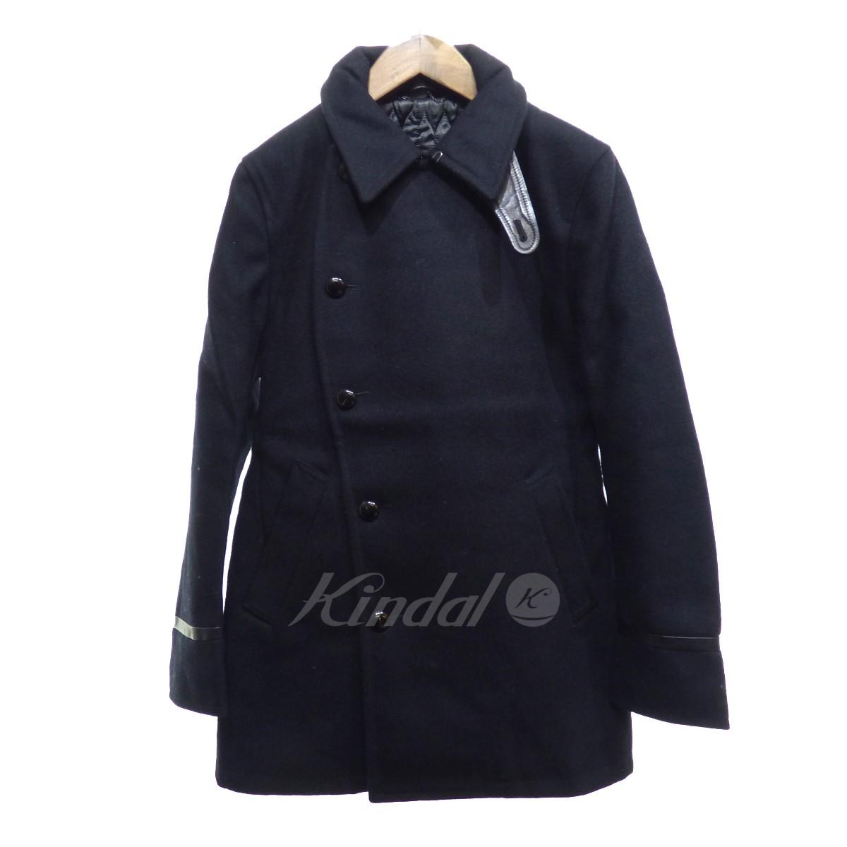【中古】VADEL CURVE BREASTED COAT ブラック サイズ:46 【261019】(バデル)