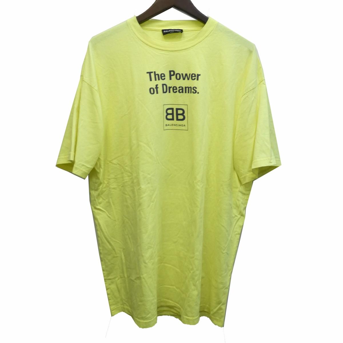 【中古】BALENCIAGA18SS プリントTシャツ 508203 イエロー サイズ:M