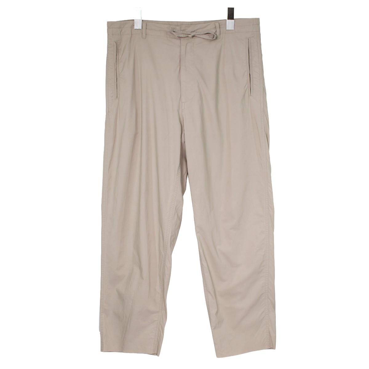 【12月30日 お値段見直しました】【中古】AURALEE18SS SELVEDGE WEATHER CLOTH EASY PANTS グレージュ サイズ:3