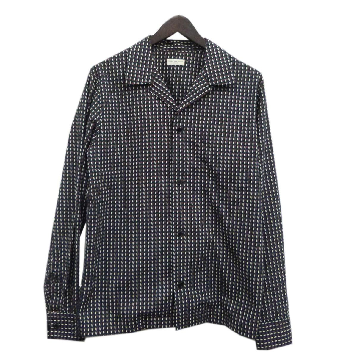 【中古】DRIES VAN NOTENオープンカラー総柄シャツジャケット マルチカラー サイズ:46 【4月16日見直し】