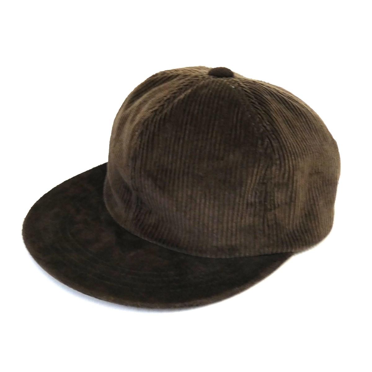【12月12日 お値段見直しました】【中古】Hender Scheme「2 tone cap corduroy」 スウェード×コーデュロイ2トーンキャップ ブラウン サイズ:FREE