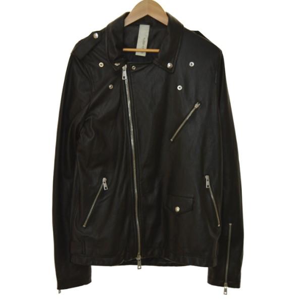 【中古】GIORGIO BRATO19SS レザージャケット ブラック サイズ:52 【5月14日見直し】