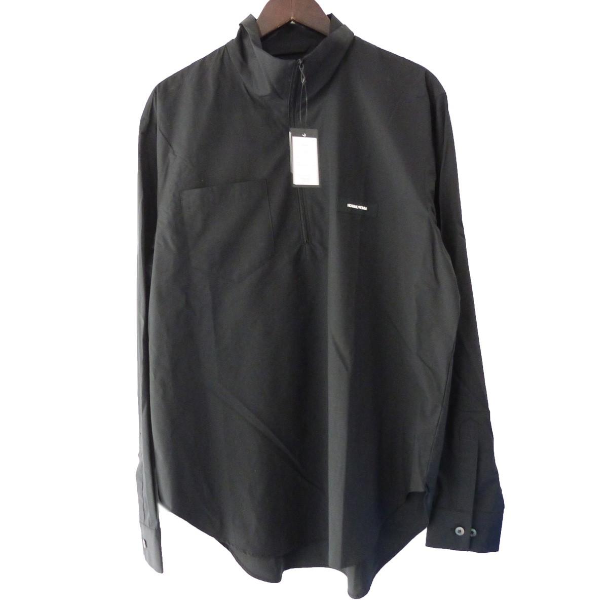 【中古】SYU. ハーフジッププルオーバーシャツ ブラック サイズ:2 【031119】(シュウ)