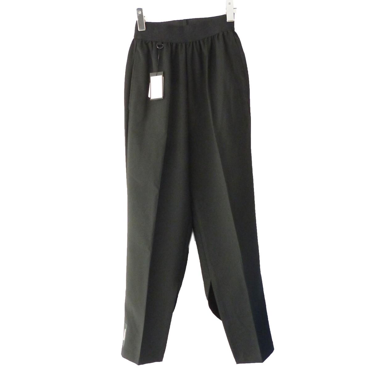 【中古】SYU. 19AW「Front Slit Pants」裾ジップスリットイージースラックス ブラック サイズ:1 【031119】(シュウ)