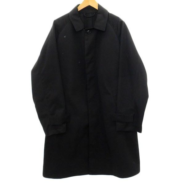 【中古】UNIVERSAL PRODUCTSステンカラーコート ブラック サイズ:3 【4月16日見直し】