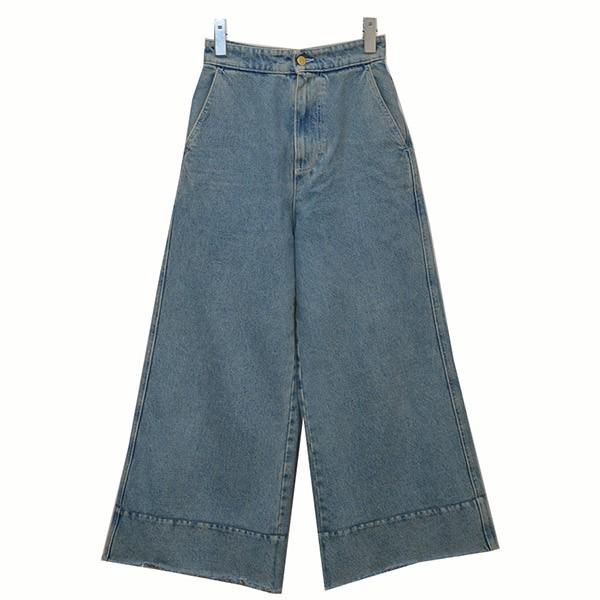 【中古】LOEWE2019SS フレアジーンズ デニム パンツ インディゴ サイズ:32