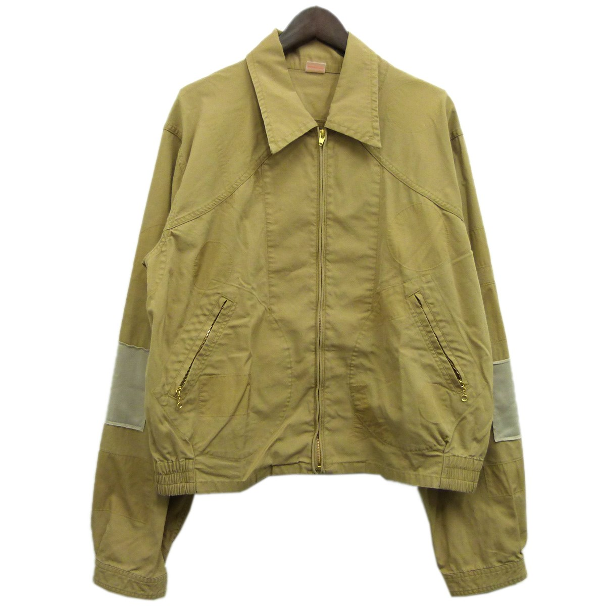 【中古】MAISON EUREKA19SS「BURBERRY CLOTH WORK JACKET」ワークジャケット ベージュ サイズ:L