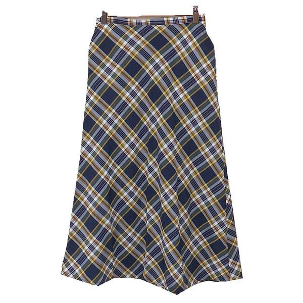 【中古】FWK by Engineered Garments チェック ラップスカート 巻きスカート ネイビー サイズ:0 【061119】(エフダブリューケイ バイ エンジニアードガーメンツ)
