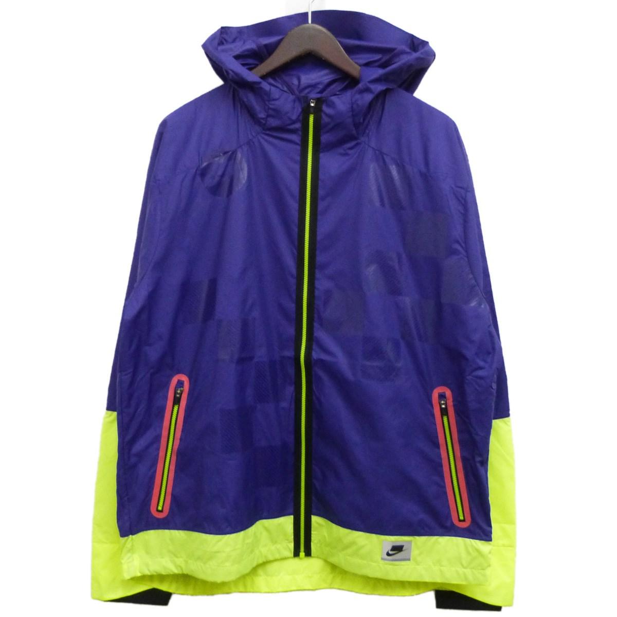 【中古】NIKE 19AW「FLASH RUNNING JACKET」ランニングジャケット パープル サイズ:XL 【071119】(ナイキ)