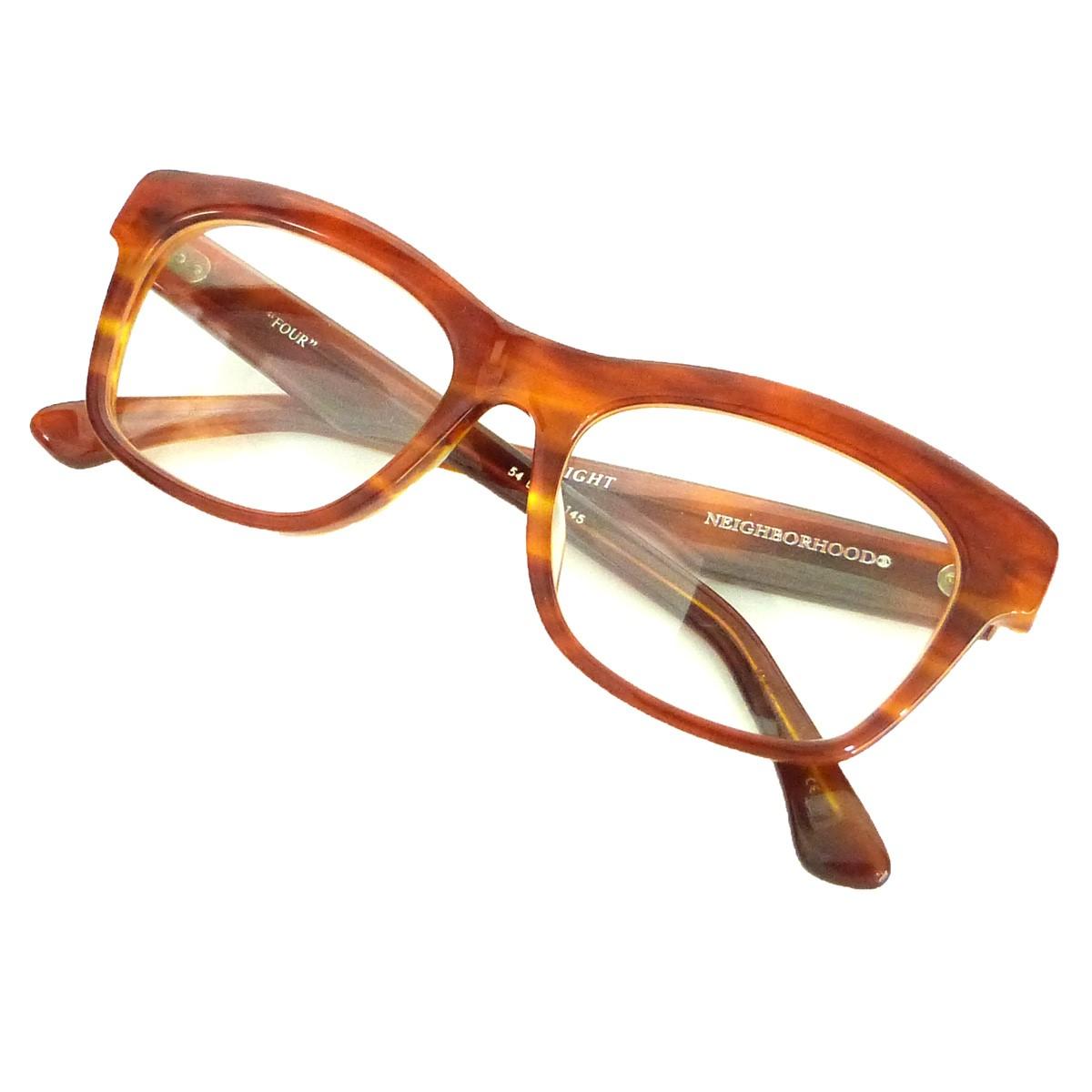 【中古】NEIGHBOR HOOD 12SS「FOUR/A-SHADE」眼鏡 ブラウン×レッドブラウン 【071119】(ネイバーフッド)