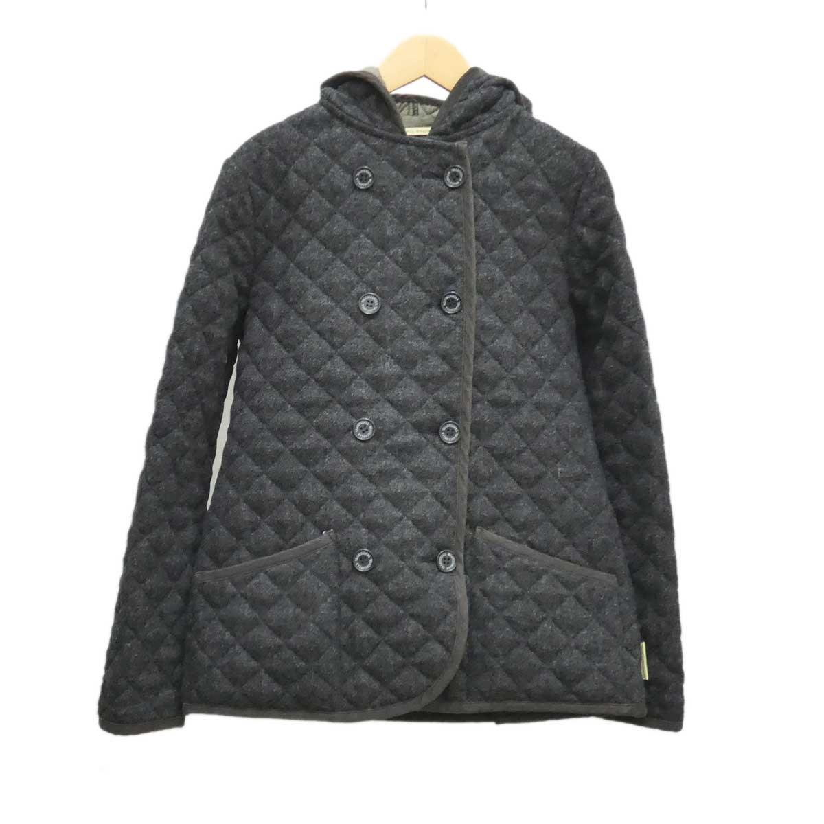 【中古】TRADITIONAL WEATHERWEAR ウールキルティングコート グレー サイズ:M(UK34) 【081119】(トラディショナル ウェザーウェア)