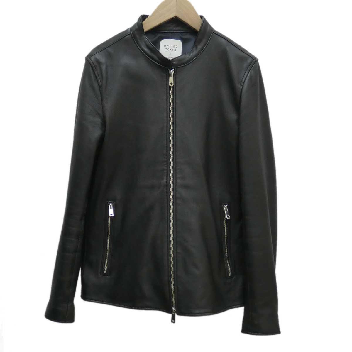 【中古】UNITED TOKYO シングルライダーズジャケット ブラック サイズ:1 【081119】(ユナイテッドトウキョウ)