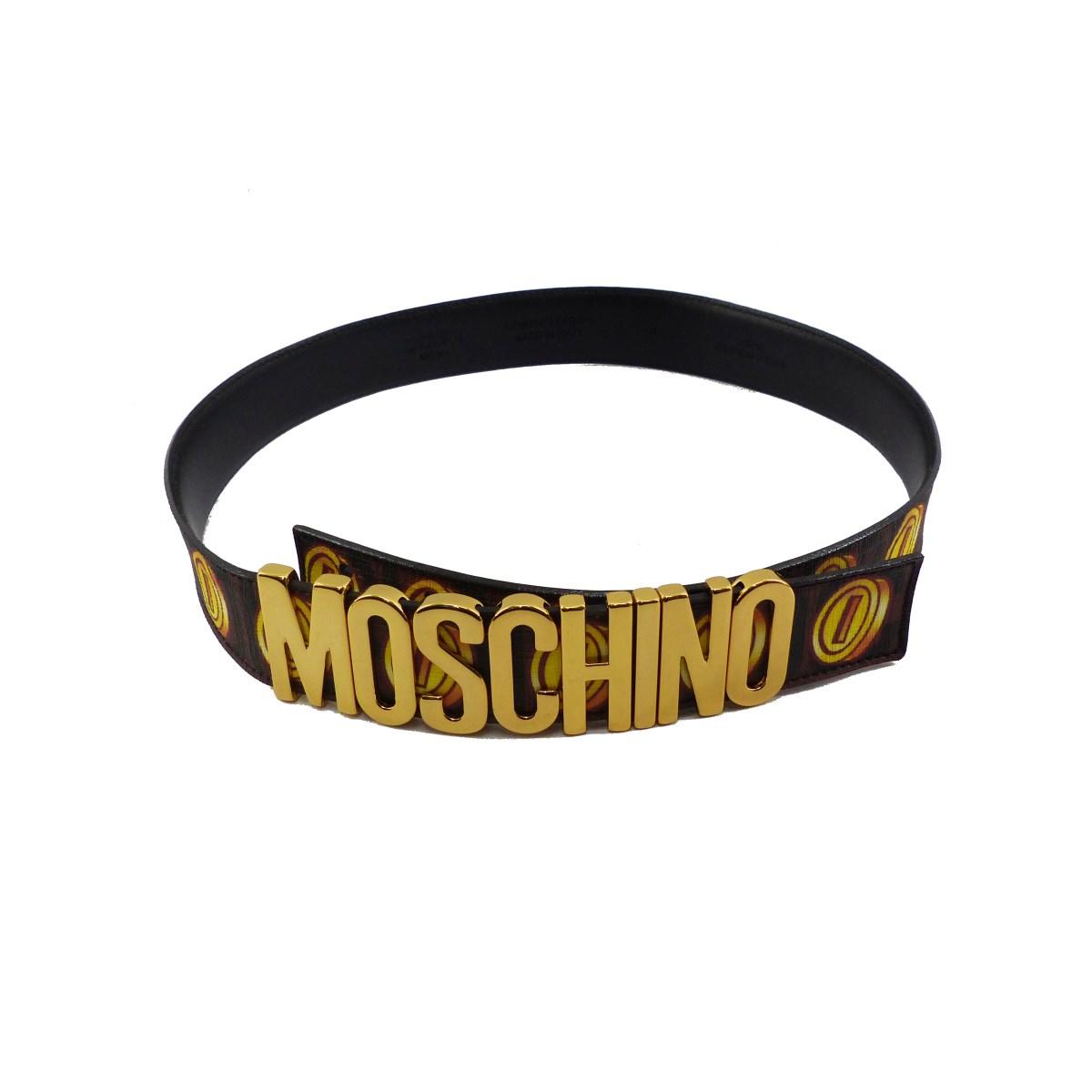 【中古】MOSCHINO 30anniversary Supermario ベルト ブラック 【081119】(モスキーノ)