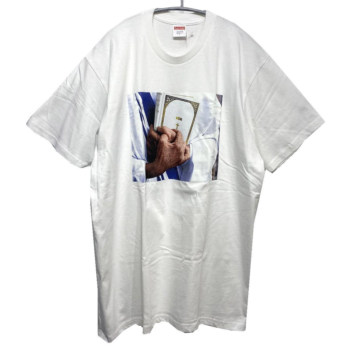 【中古】SUPREME 2019AW Bible Tee 聖書フォトTシャツ ホワイト サイズ:L 【091119】(シュプリーム)