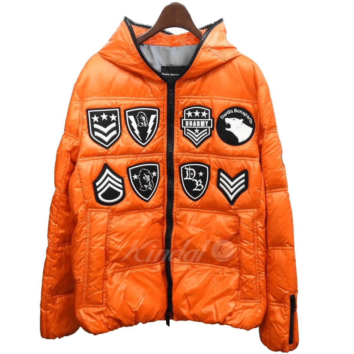 【中古】Dartin Bonapartoスワロフスキージップワッペンダウンジャケット オレンジ サイズ:48【2月17日見直し】