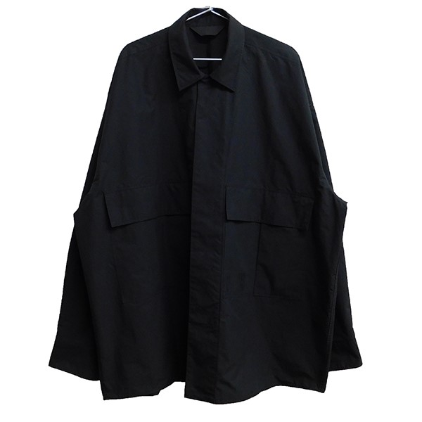 【中古】ESSAY OVERSIZED OPEN COLLAR SHIRT ブラック サイズ:M 【101119】(エッセイ)