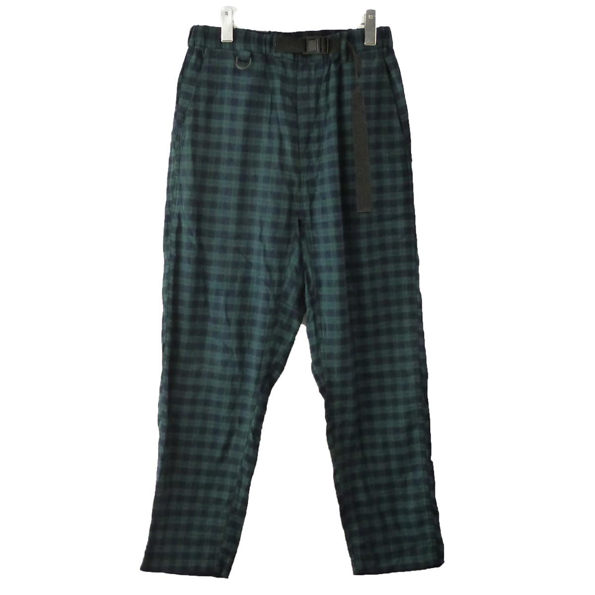 【中古】AiE 「EZ Pant-Cotton Tartan Check」イージータータンチェックパンツ グリーン×ネイビー サイズ:S 【111119】(エーアイイー)