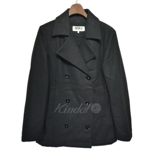 【中古】MM6 2012AW ウールピーコート ブラック サイズ:36 【111119】(マルタンマルジェラ)