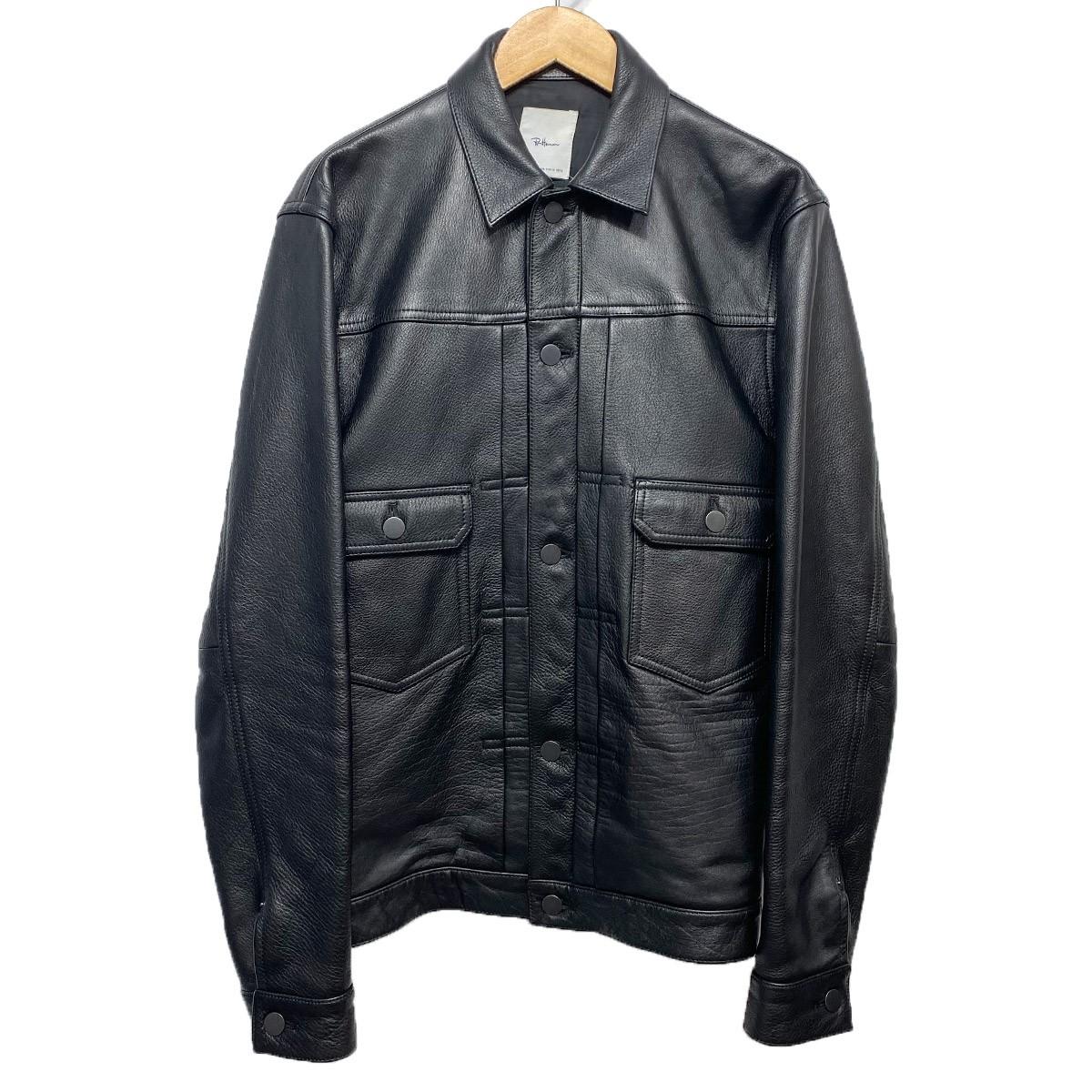 【中古】Ron Herman 16AW カウレザートラッカージャケット ブラック サイズ:M 【111119】(ロンハーマン)