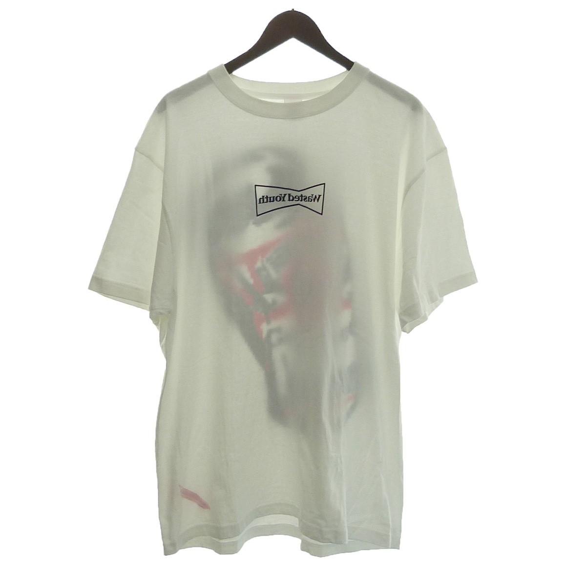 【中古】phingerin ×Wated youth プリントTシャツ ホワイト サイズ:XXL 【111119】(フィンガリン)