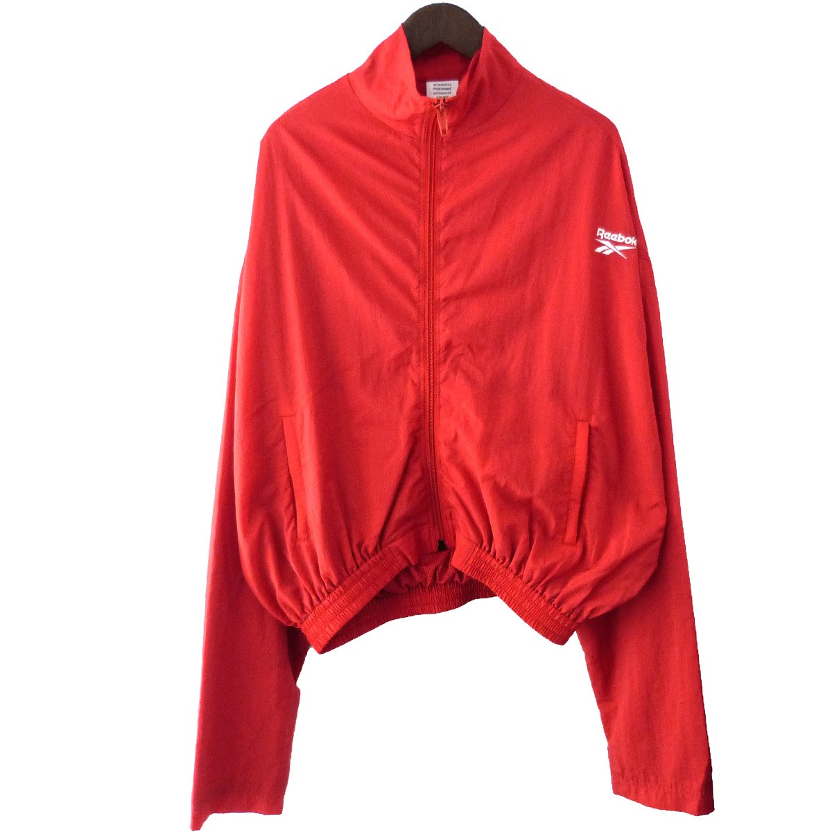 【中古】VETEMENTS×Reebok17SS「Track Jacket」トラックジャケット レッド サイズ:XS【2月27日見直し】
