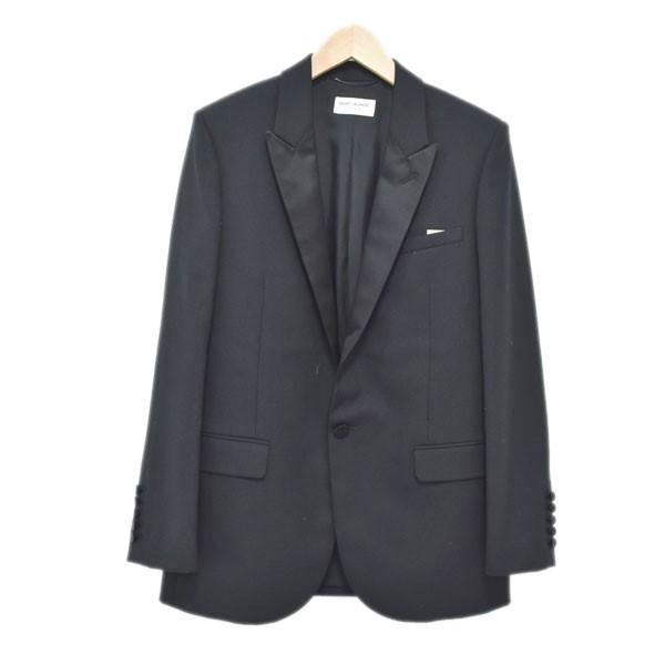 【中古】SAINT LAURENT PARISスモーキングジャケット 445219 ブラック サイズ:F38 【4月23日見直し】