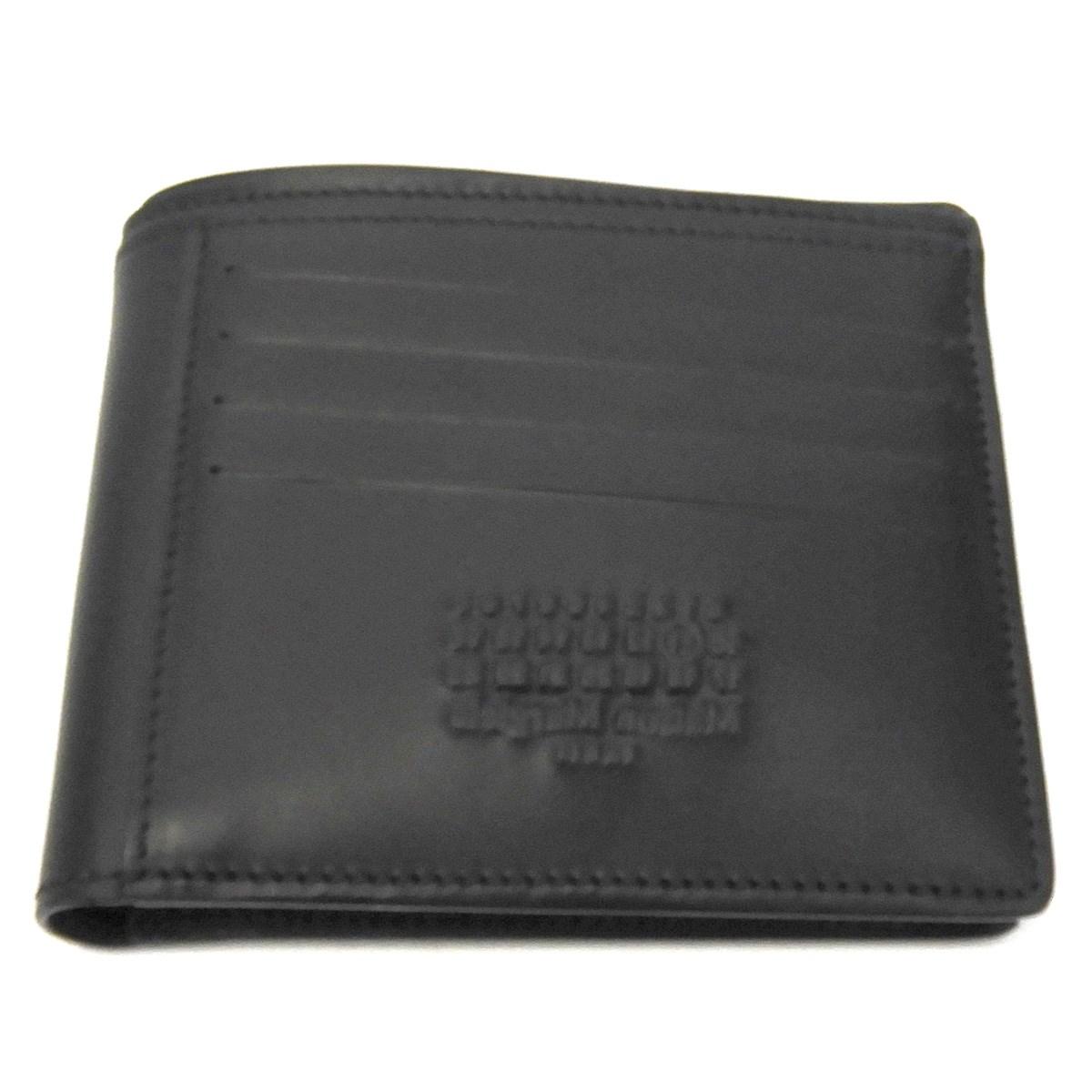 【中古】MARTIN MARGIELA 11 18SS 二つ折り財布 ブラック 【131119】(マルタンマルジェラ11)