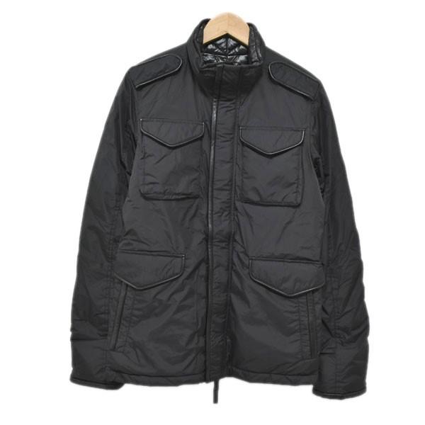 【中古】AKM×DUVETICA 17AW M-65 field jacket ダウンジャケット AD015 ブラック サイズ:M 【131119】(エイケイエムデュベティカ)