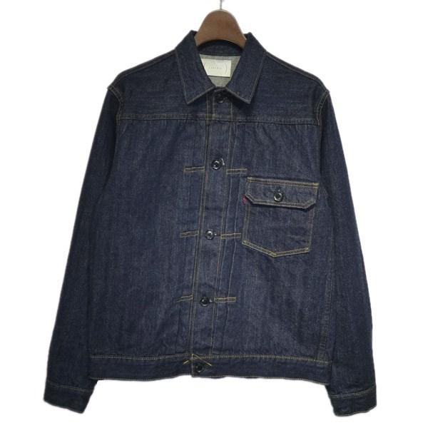 【中古】CANTATE2018AW「T-Back Jacket」デニムジャケット インディゴ サイズ:46 【5月11日見直し】