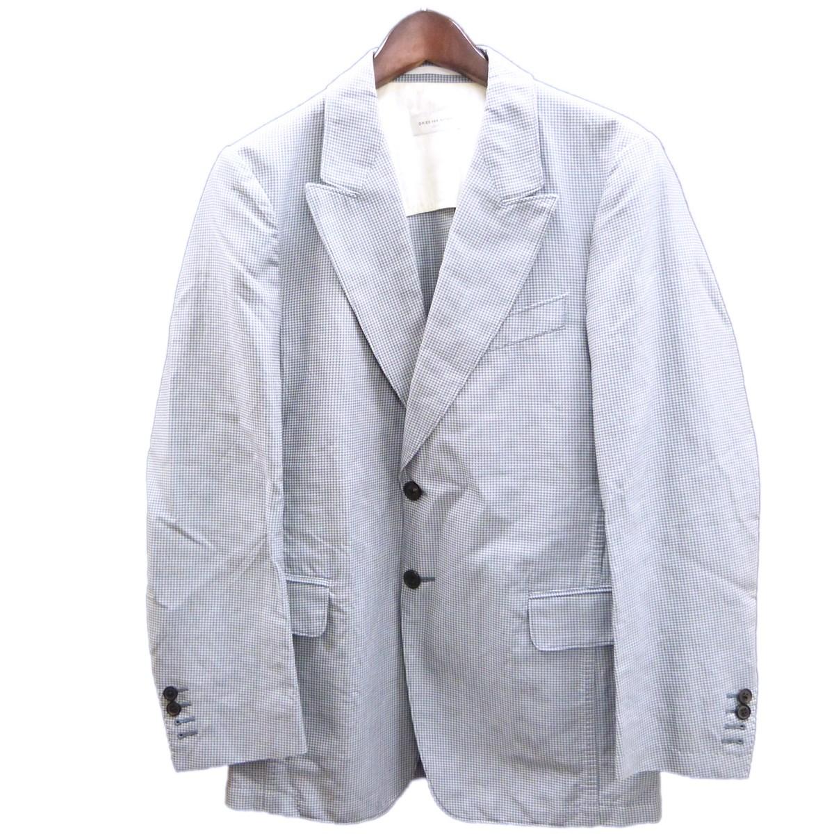 【中古】DRIES VAN NOTENハウンドトゥーステーラードジャケット ブルーグレー サイズ:46 【4月16日見直し】