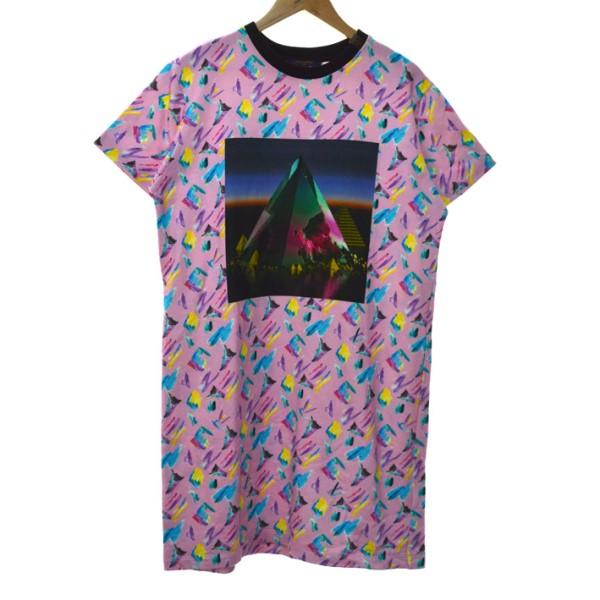 【中古】LOUIS VUITTON 19SS PRINTED SWEATSHIRT DRESS スウェットドレス ピンク サイズ:XL 【161119】(ルイヴィトン)