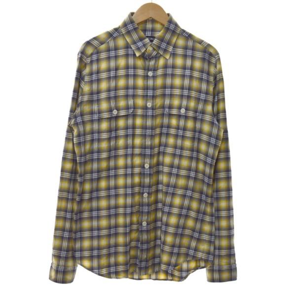 【中古】TOM FORDチェックシャツ イエロー サイズ:40
