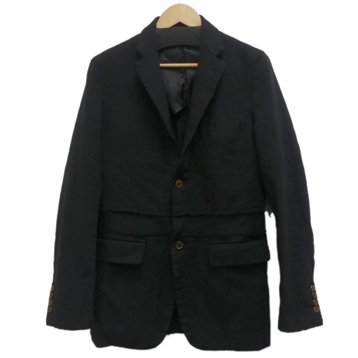 【中古】COMME des GARCONS HOMME DEUX2019SS 再構築テーラードジャケット ブラック サイズ:XS 【5月14日見直し】