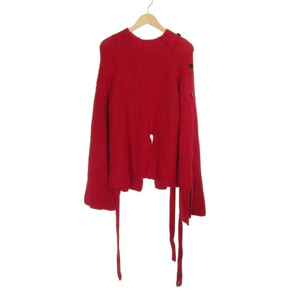 【中古】IRENE18AW Pull Full Cardigan Knit ニット レッド サイズ:36