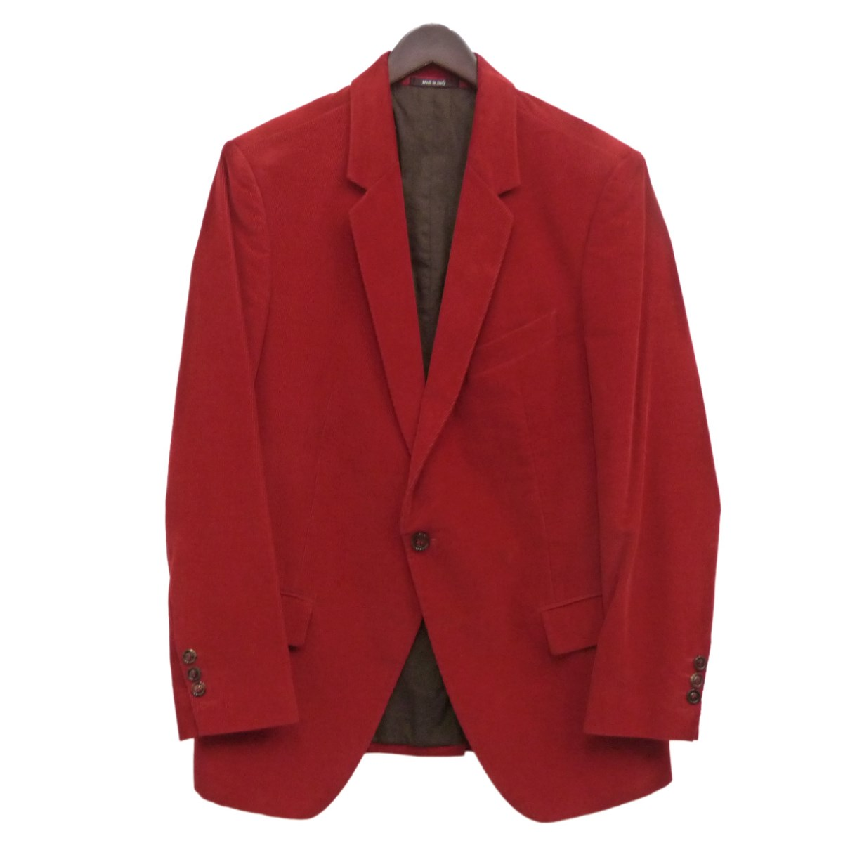 【中古】Martin Margiela 10 13AWコーデュロイノッチド2Bジャケット レッド サイズ:46 【171119】(マルタンマルジェラ10)