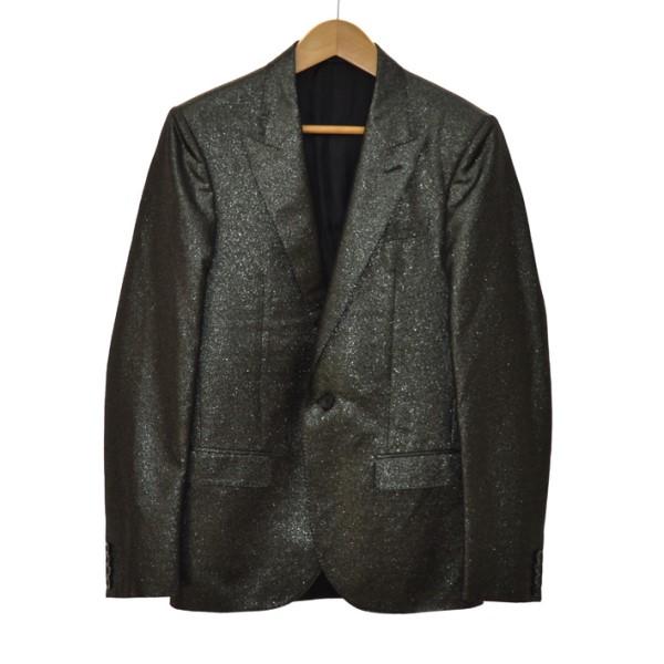 【中古】LANVIN ピークドラベルテーラードジャケット ブラック サイズ:44 【191119】(ランバン)