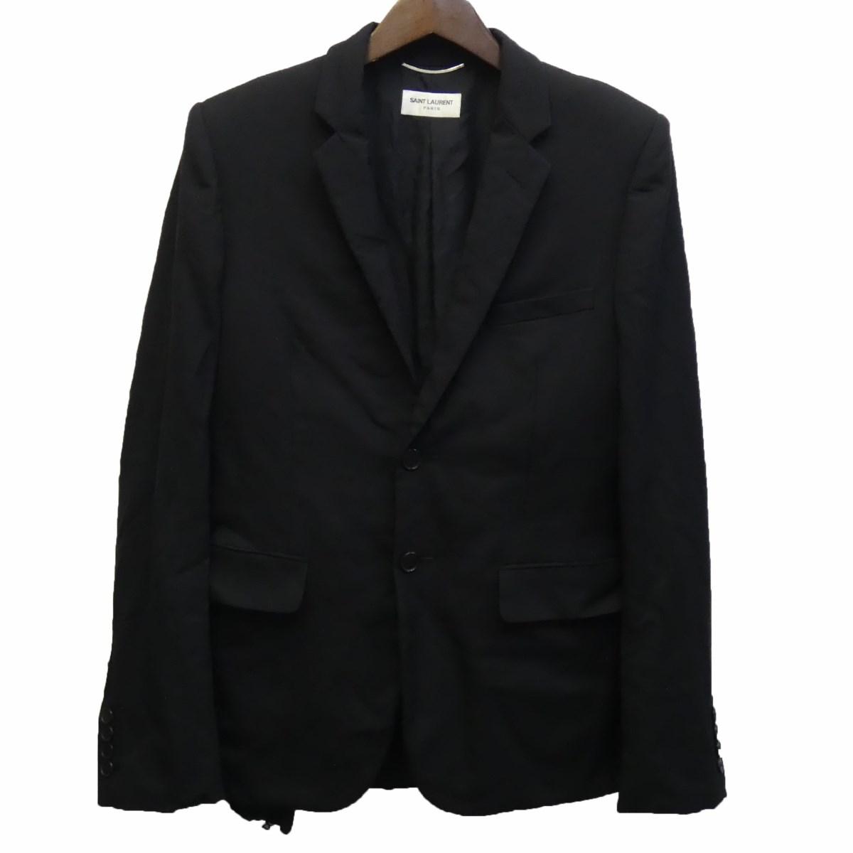 【中古】SAINT LAURENT PARIS17AW 481799 テーラードジャケット ブラック サイズ:46 【4月16日見直し】