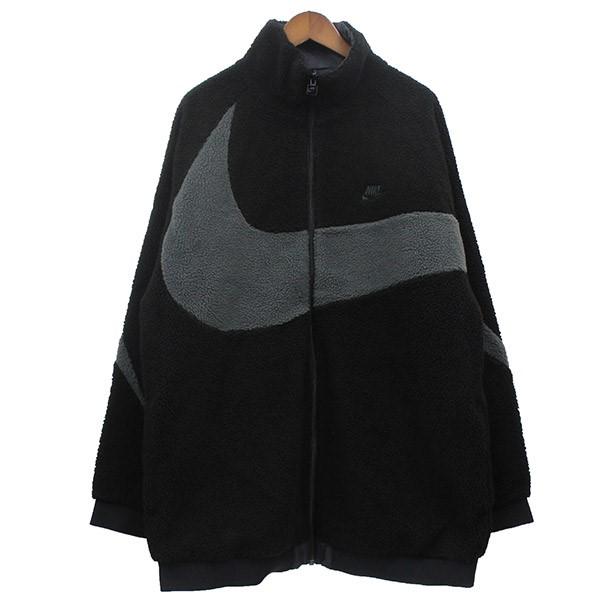 【中古】NIKEREVERIBLE SMOOSH FULL ZIP JACKET リバーシブルフリースジャケット ブラック サイズ:L 【4月6日見直し】