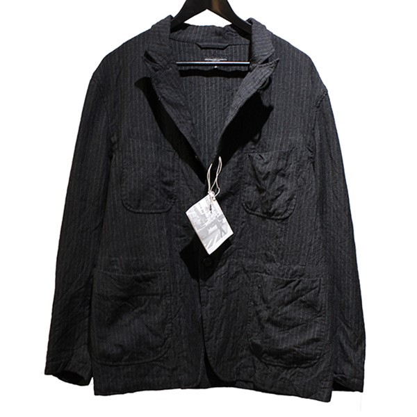 【中古】Engineered Garments19AW NB Jacket-Worsted Wool Chalk St ウール ジャケット グレー サイズ:S【1月30日見直し】