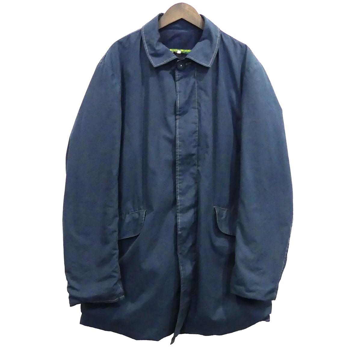 【中古】PAUL HARNDENショートマックコート ブルー サイズ:S 【3月12日見直し】