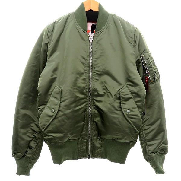 【中古】ALPHA MA-1ジャケット オリーブ サイズ:S 【201119】(アルファ)