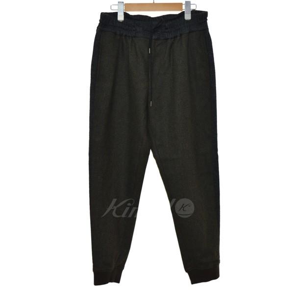 【中古】Casely-Hayford ×TOMORROW LAND イージーパンツ ブラック×カーキ サイズ:36 【201119】(ケイスリーヘイフォード)