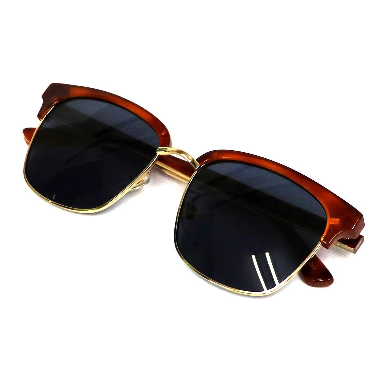 【中古】GUCCI スクエアフレームサングラス眼鏡 ブラウン サイズ:56□18-145 【201119】(グッチ)
